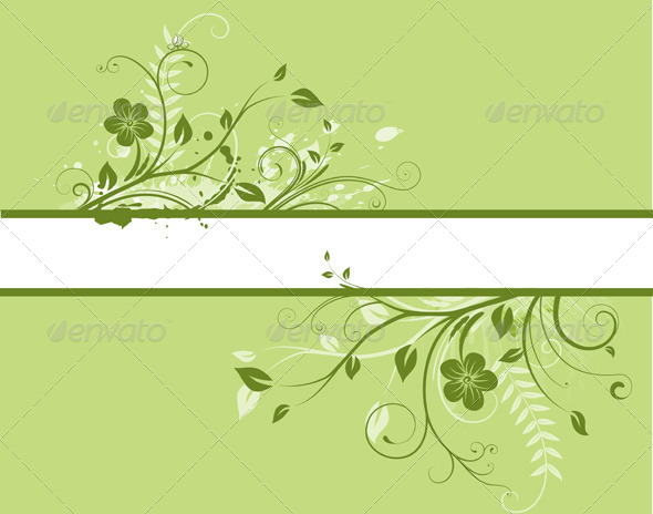 GraphicRiver Floral Decorative banner 4138568