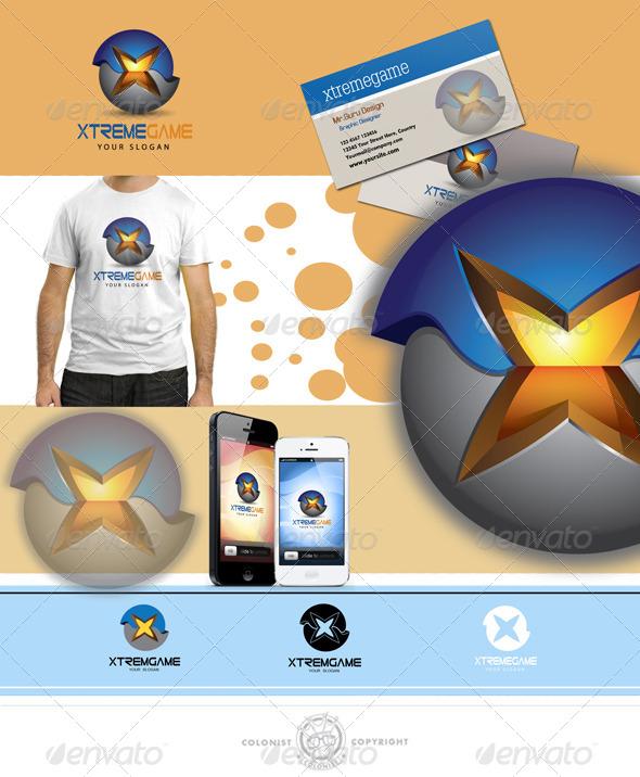 GraphicRiver Xtremgame Logo 4138577