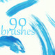 90 Watercolor Brushes - High Quality - GraphicRiver Item for Sale