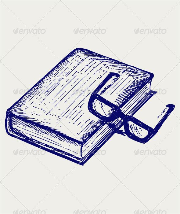 GraphicRiver Book and Glasses 4139324