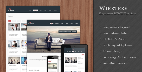 Wiretree - Responsive HTML5 Template