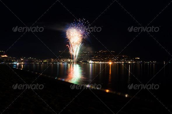 PhotoDune Fireworks on the beach 4152495