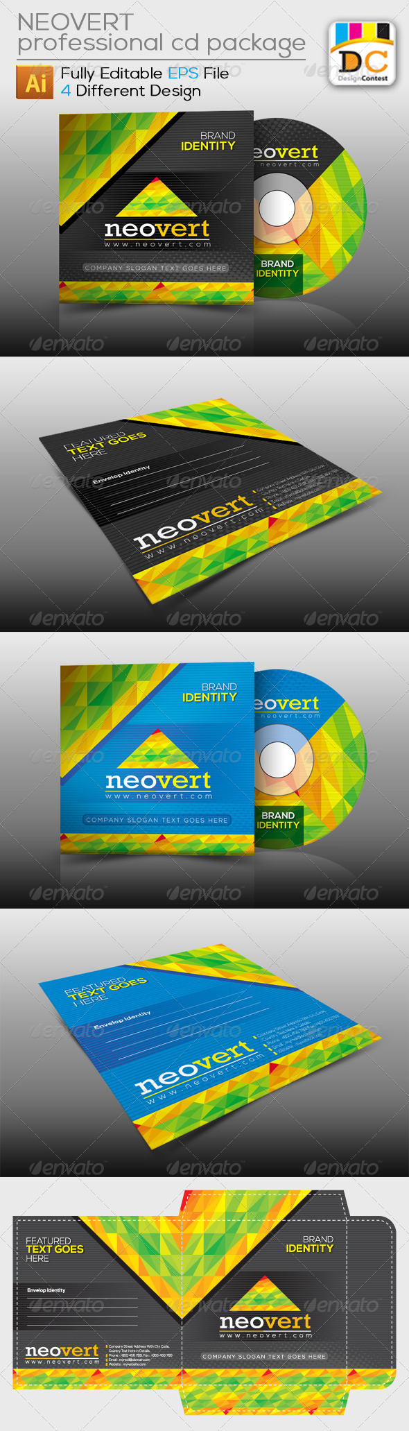 GraphicRiver NeoVert CD Sleeve Label & Sticker 4139490