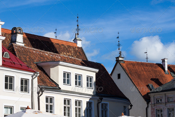 PhotoDune Tallinn old town roofs Estonia 4152521