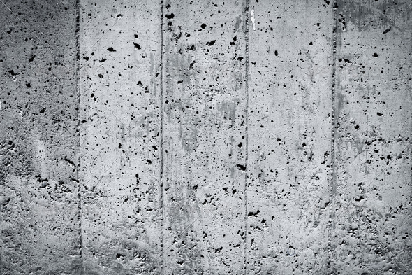 PhotoDune Black and white concrete wall 4152526
