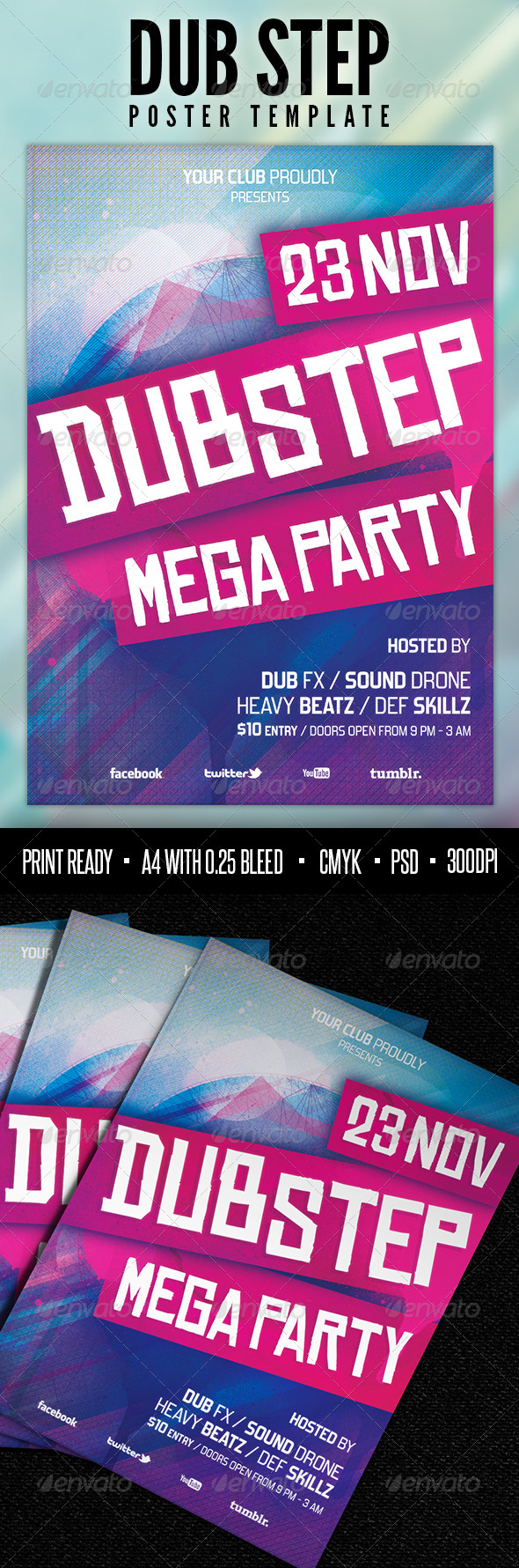 GraphicRiver Dub Step Poster Template 3960441