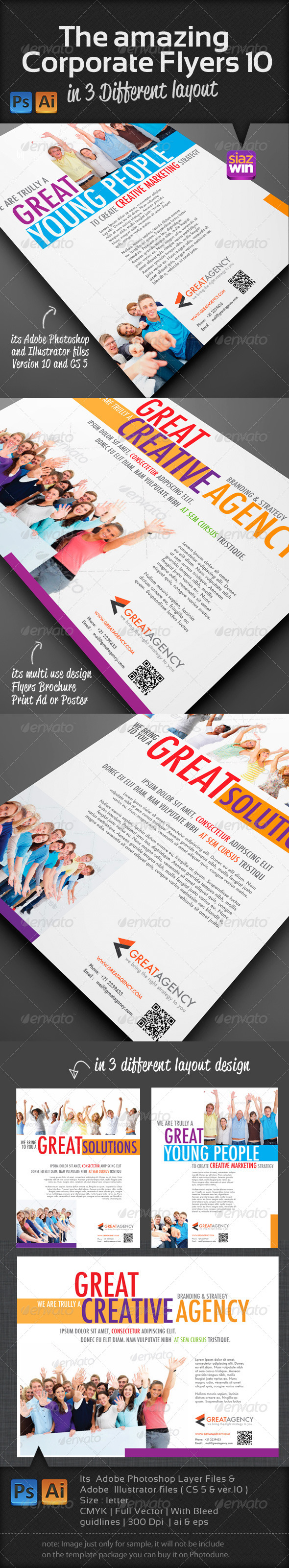 GraphicRiver The Amazing Corporate Flyers 10 4139846