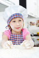 Cute little girl cooking cookies - PhotoDune Item for Sale
