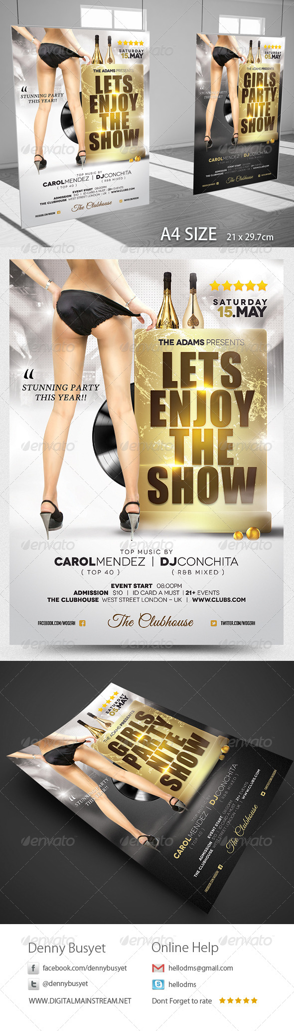 Lets Enjoy The Show Party Flyer Poster Template - Events Flyers