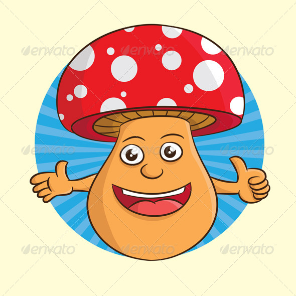 GraphicRiver Mushroom Smile 4140420