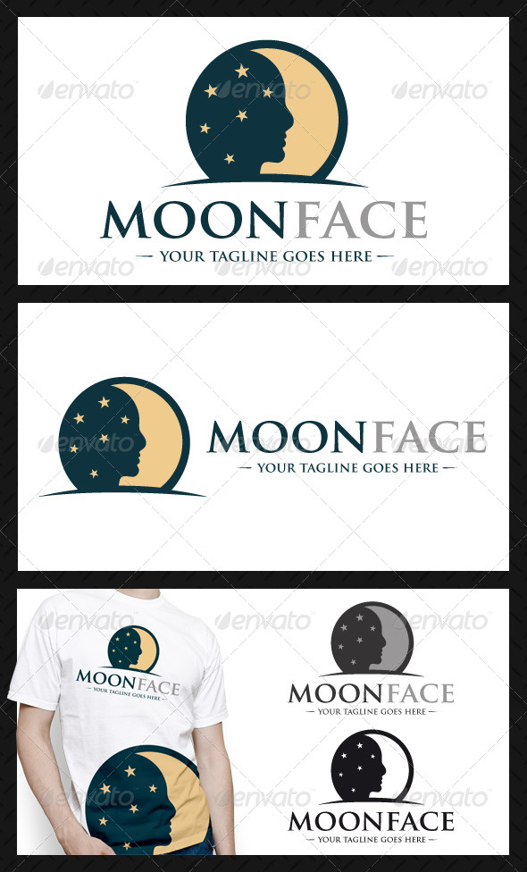 GraphicRiver Moon Face Logo Template 4140504