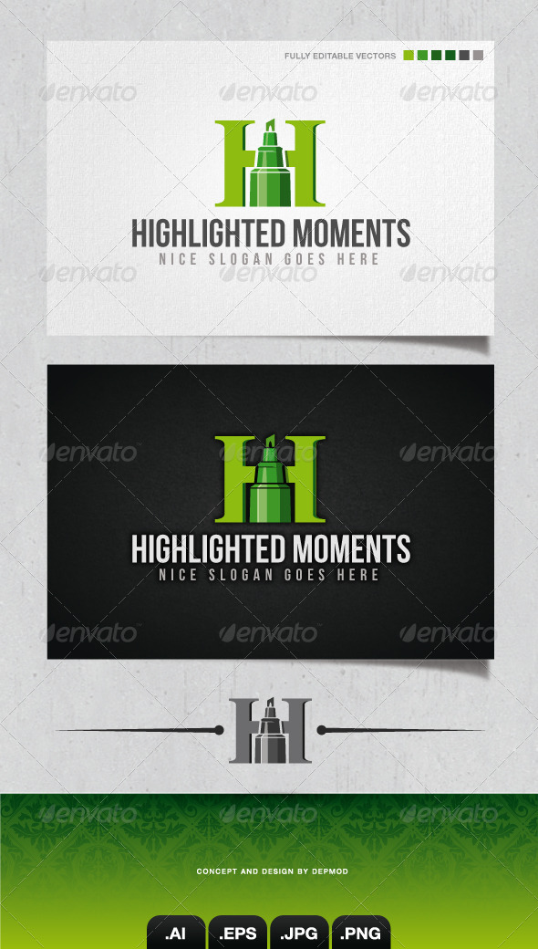 GraphicRiver Highlighted Moments Logo 4140650