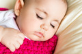 Closeup portrait of sleeping baby - PhotoDune Item for Sale
