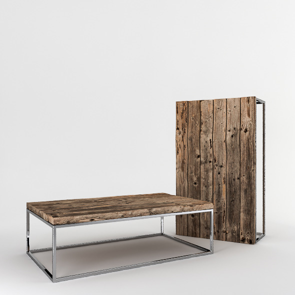3DOcean Rough Planks Coffee Table 4141183