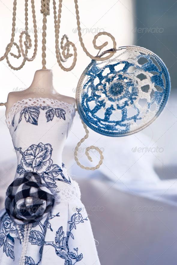 PhotoDune earrings handmade fashion on a mannequin 4141367