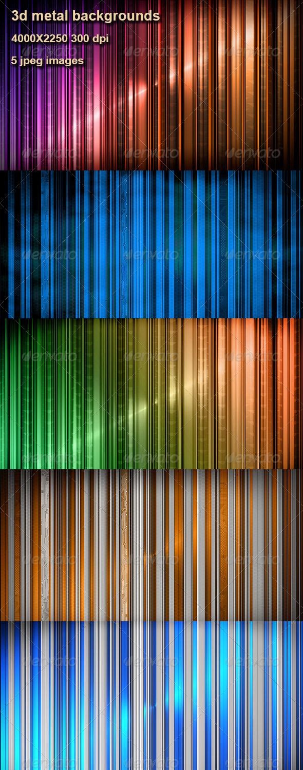 GraphicRiver Metal Backgrounds 3D 4141972