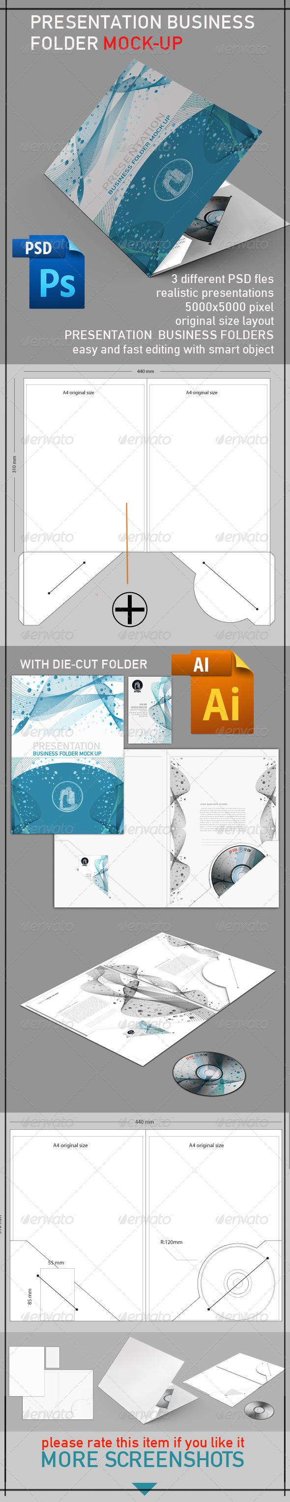 GraphicRiver Presentation Folder Mock Up 4006397