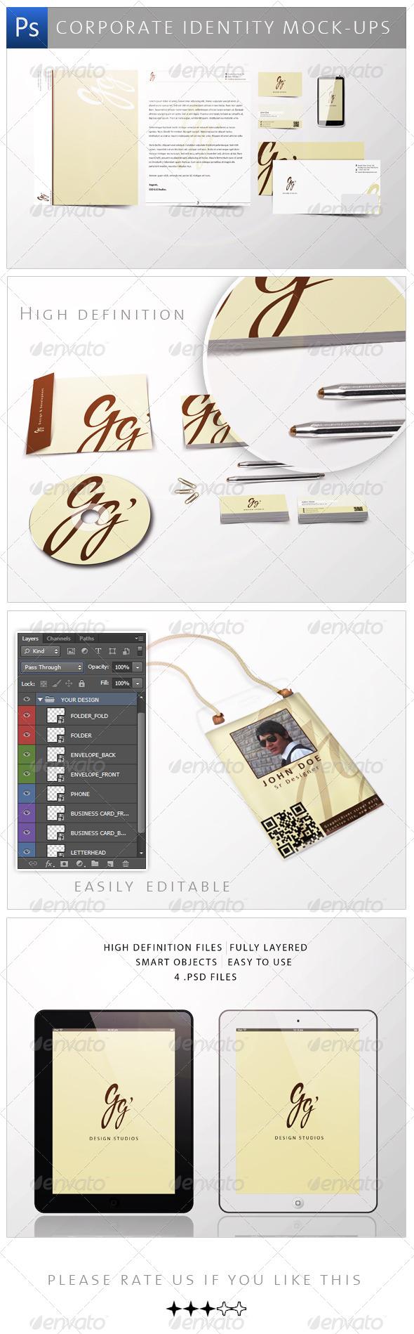 GraphicRiver Corporate Identity Mock-ups 4142211