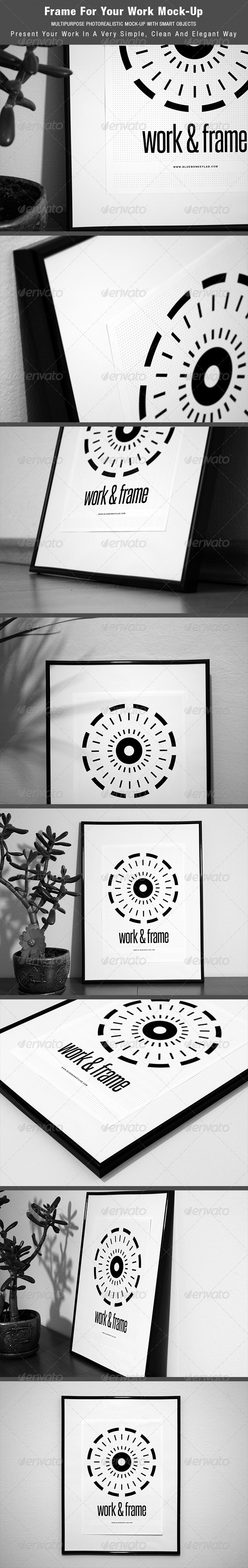 GraphicRiver Frame For Your Work Mock-up 4142750