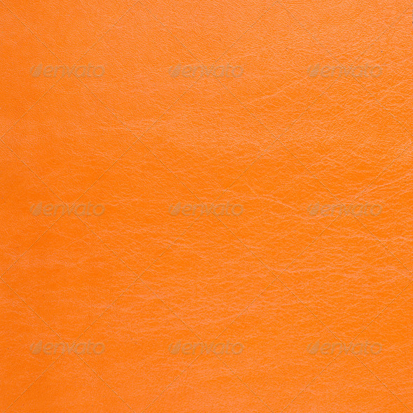 Orange leather background - Stock Photo - Images