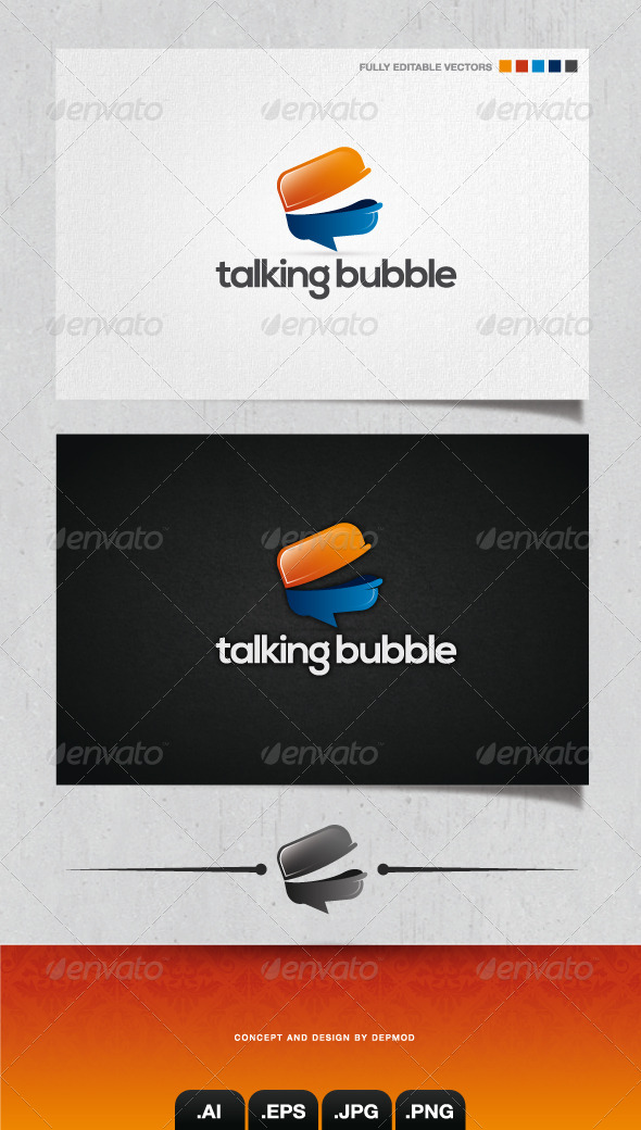 GraphicRiver Talking Bubble Logo 4071256