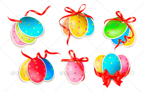 GraphicRiver Decorative Easter Eggs with Bows 4143346