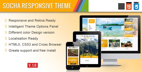 ThemeForest Socha Responsive WordPress Theme 4078844