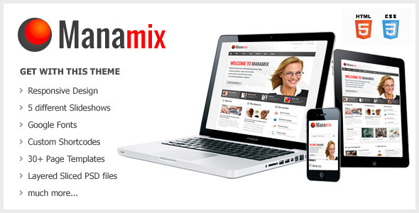 ThemeForest Manamix Responsive Multipurpose Template 4123633