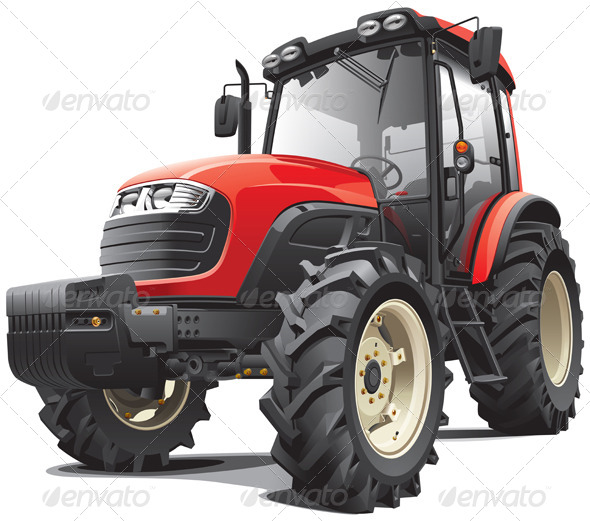 GraphicRiver Red Tractor 4144205