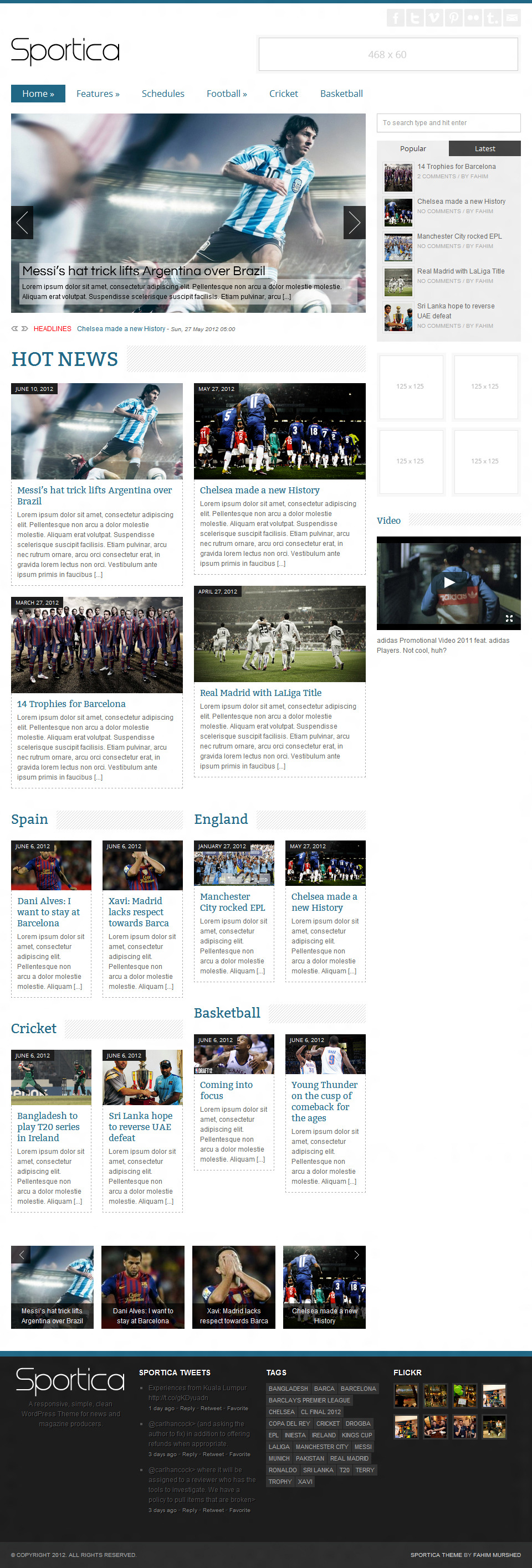 Sportica - Responsive Sports News/Magazine
