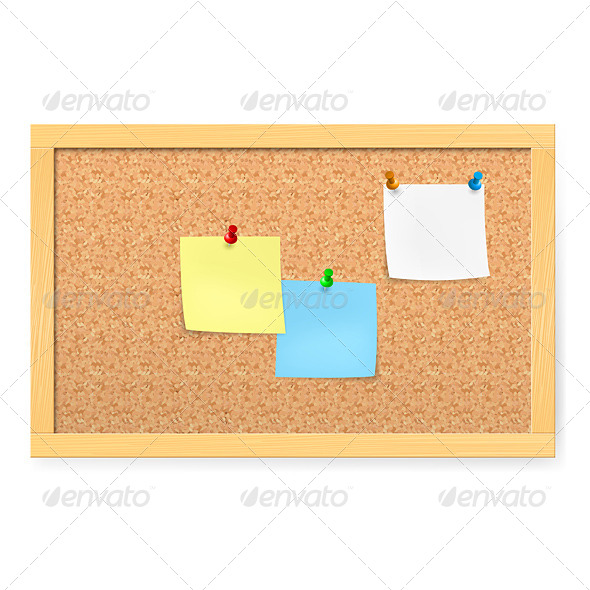 GraphicRiver Corkboard with Pushpins 4145661