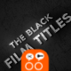 Black Film Titles - VideoHive Item for Sale