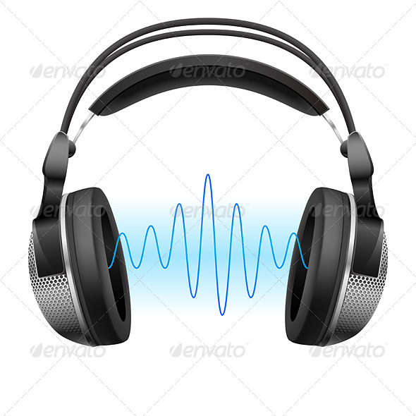 GraphicRiver Headphones and Music Wave 4145678