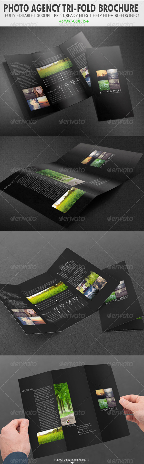 Photo Agency Tri-fold Brochure - Catalogs Brochures