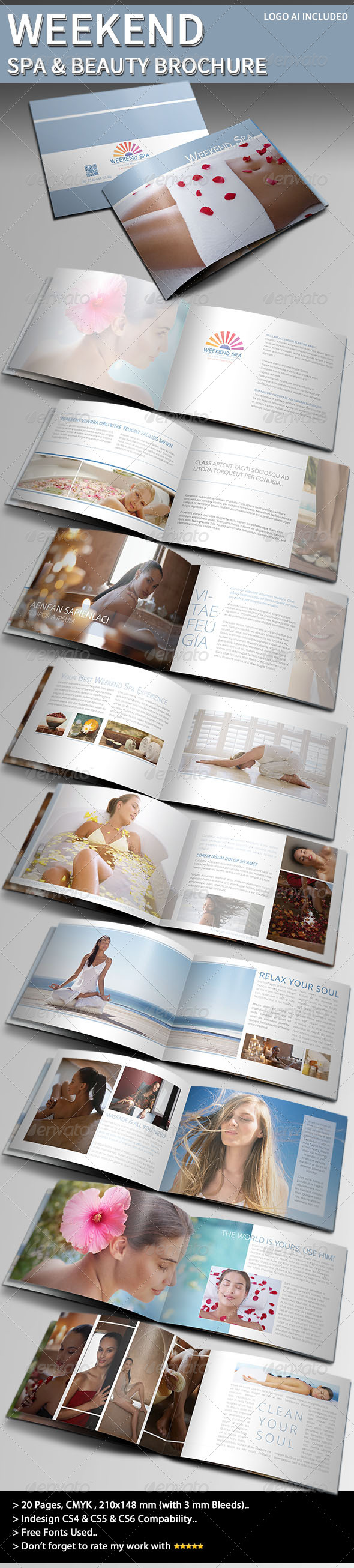 Weekend Spa & Beauty Brochure - Informational Brochures