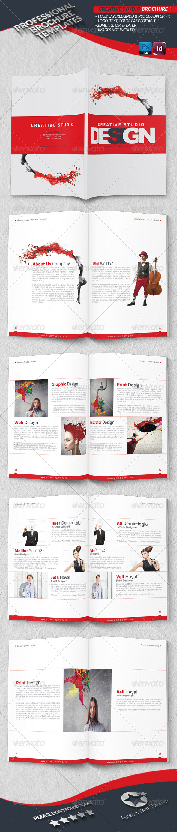 GraphicRiver Creative Studio Brochure 4146924
