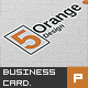 5 Orange Corporate Business Card - GraphicRiver Item for Sale