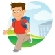 Boy with Backpack - GraphicRiver Item for Sale
