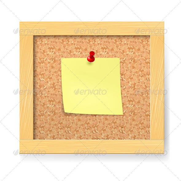 GraphicRiver Empty Wooden Corkboard 4147128
