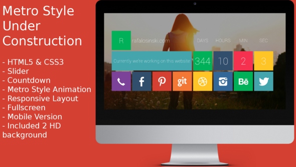 ThemeForest Animated Metro Coming Soon 4147166