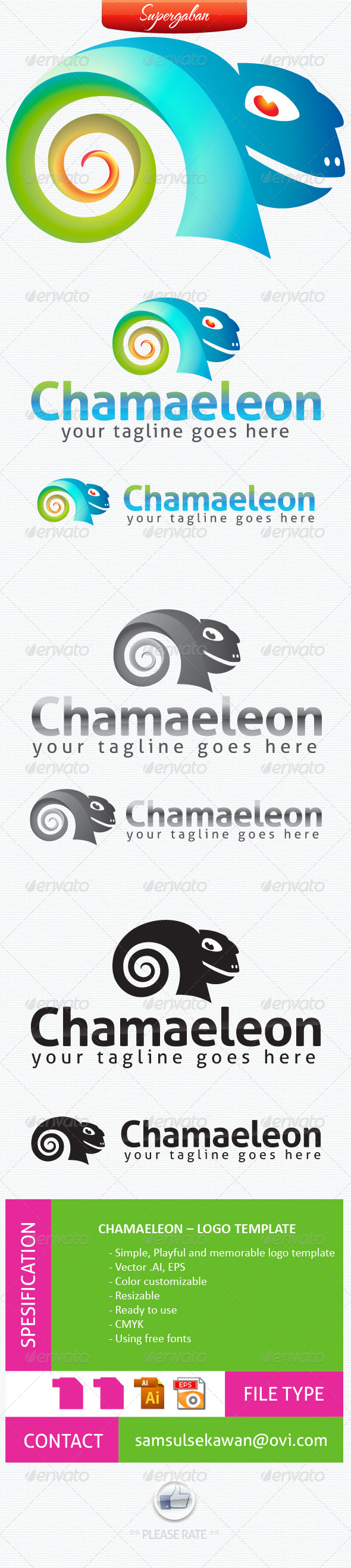 Cameleon Logo - Animals Logo Templates
