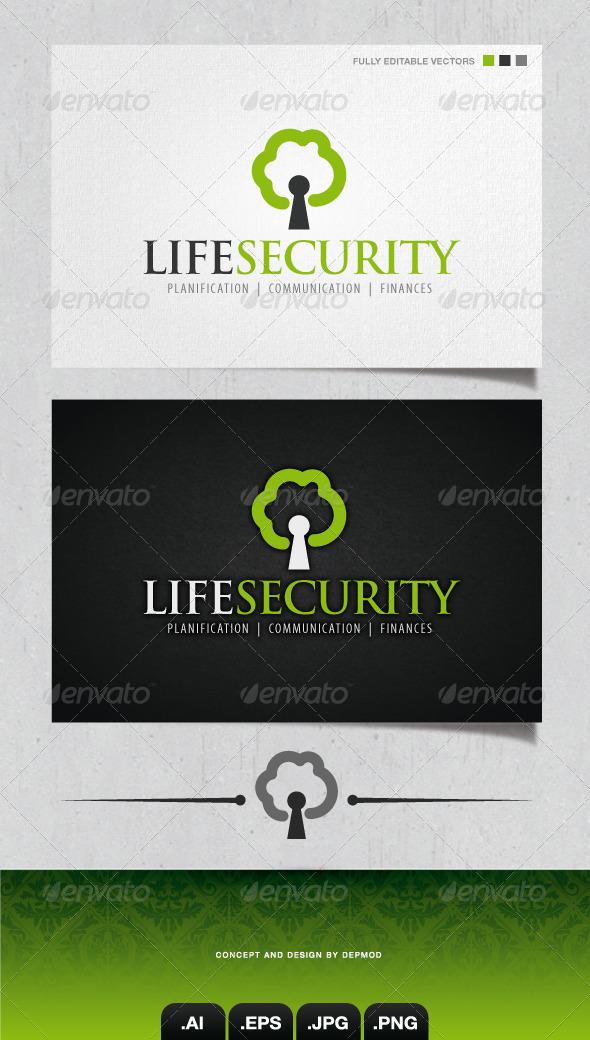 GraphicRiver Life Security Logo 4147874
