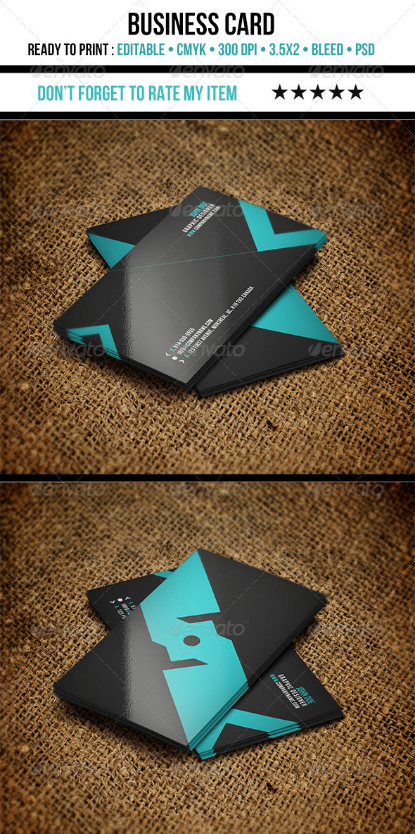 GraphicRiver Modern Business Card 4147936