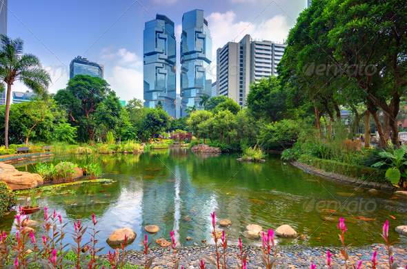 Hong Kong Park - Stock Photo - Images
