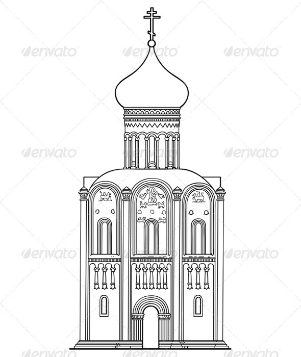 GraphicRiver Church of the Intercession on the Nerl 4148289