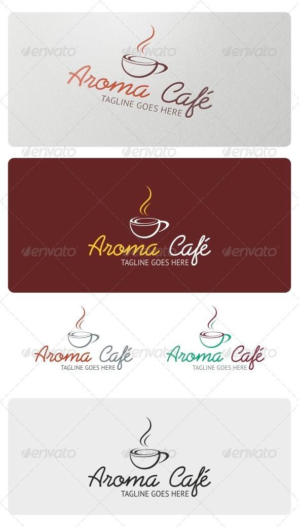 GraphicRiver Aroma Cafe Logo Template 4148298