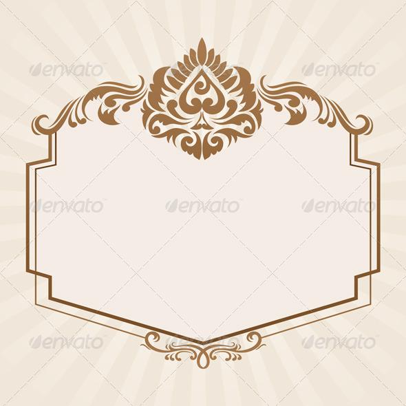 GraphicRiver Spades Ornament Frame 4148545