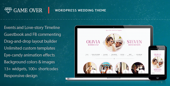 ThemeForest Game Over Responsive Wedding Event Planning 4148563