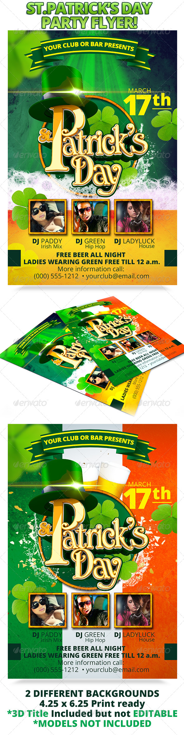 GraphicRiver St Patrick s Day Party Flyer 4148572