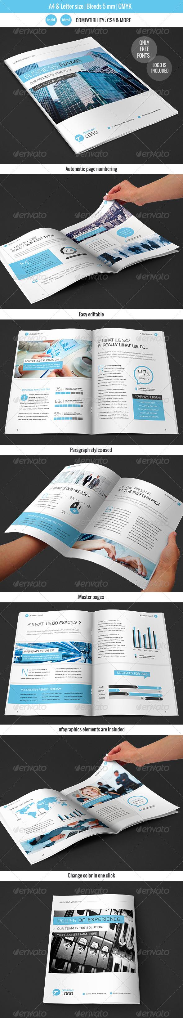 GraphicRiver Corportate & Business Brochure Template Design 4148585